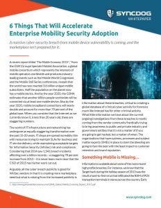 6 Things to Drive Enterprise Mobility Adoption and IoT