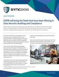 GDPR will bring the Teeth to Data Security