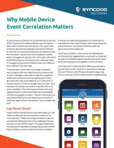 Why mobile device event log correlation matters