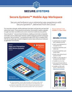 Secure.Systems™ Mobile App Workspace