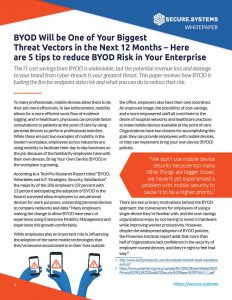 BYOD Data Security Threat