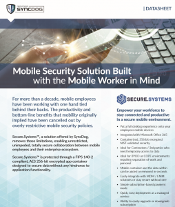 Mobile Security Solution Built with the Mobile Worker in Mind